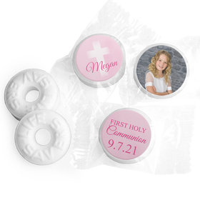 Personalized Life Savers Mints - Girl First Communion Faded Cross