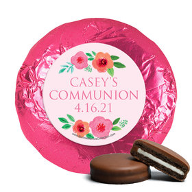 Personalized Girl First Communion Bold Florals Chocolate Covered Oreos (24 Pack)