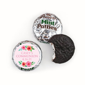 Personalized Pearson's Mint Patties - Girl First Communion Bold Florals
