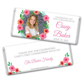 Personalized Bonnie Marcus Girl First Communion Bold Florals Chocolate Bars