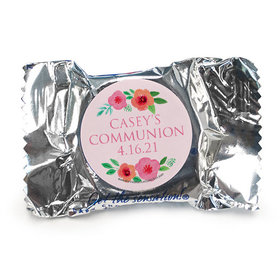 Personalized York Peppermint Patties - Girl First Communion Bold Florals