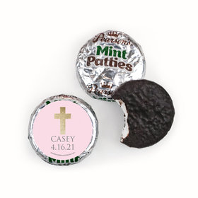 Personalized Pearson's Mint Patties - Girl First Communion Glitter Cross