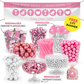 Personalized Girl First Communion Religious Icons Deluxe Candy Buffet