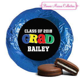 Personalized Bonnie Marcus Collection Colorful Graduation Milk Chocolate Covered Oreos