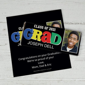 Personalized Bonnie Marcus Collection Colorful Graduation Chocolate Bar Wrappers
