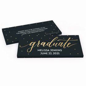 Deluxe Personalized Classy Graduation Chocolate Bar in Gift Box