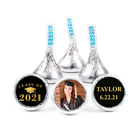 "Personalized 3/4"" Stickers - Bonnie Marcus Gold Graduation (108 Stickers)"