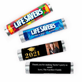 Personalized Bonnie Marcus Graduation Gold Lifesavers Rolls (20 Rolls)