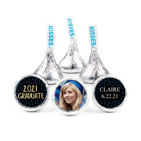 """Personalized 3/4"""" Stickers - Bonnie Marcus Dots Graduation (108 Stickers)"""