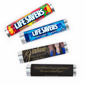 Personalized Bonnie Marcus Graduation Chalkboard Lifesavers Rolls (20 Rolls)