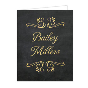 Bonnie Marcus Collection Gold Chalkboard Graduation Party Thank You