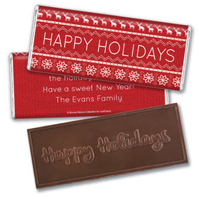 Holiday CheerEmbossed Happy Holidays Bar Personalized Embossed Chocolate Bar Assembled