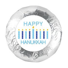 """Personalized 1.25"""" Stickers - Hanukkah Candles (48 Stickers)"""