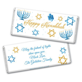 Personalized Bonnie Marcus Chocolate Bar & Wrapper - Hanukkah 8 Crazy Nights
