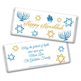 Personalized Bonnie Marcus Chocolate Bar Wrapper Only - Hanukkah 8 Crazy Nights