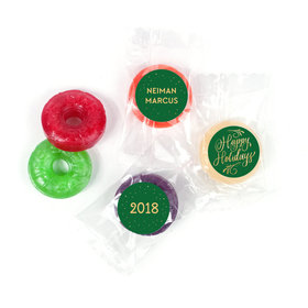 Personalized Bonnie Marcus Happy Holidays Flourish LifeSavers 5 Flavor Hard Candy