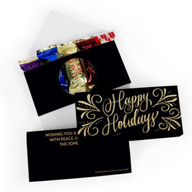 Deluxe Personalized Bonnie Marcus Happy Holidays Flourish Roca Chocolate in Gift Box