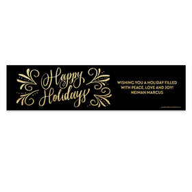 Personalized Bonnie Marcus Happy Holidays Flourish 5 Ft. Banner