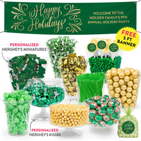 Personalized Happy Holidays Flourish Deluxe Candy Buffet