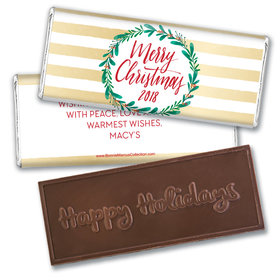 Personalized Bonnie Marcus Embossed Chocolate Bar & Wrapper - Christmas Chic