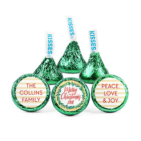 Personalized Bonnie Marcus Christmas Chic Hershey's Kisses (50 pack)