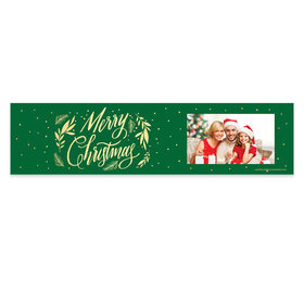 Personalized Bonnie Marcus Christmas Festive Leaves Photo 5 Ft. Banner