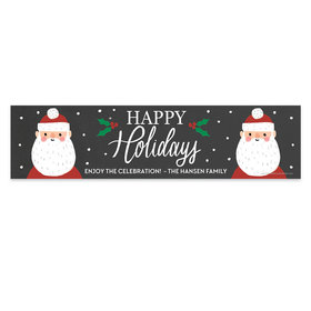 Personalized Bonnie Marcus Christmas Snowy Santa 5 Ft. Banner