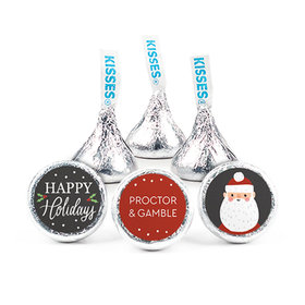 Personalized Bonnie Marcus Christmas Snowy Santa Hershey's Kisses (50 pack)