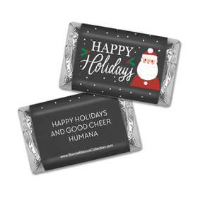 Personalized Bonnie Marcus Snowy Santa Christmas Mini Wrappers Only