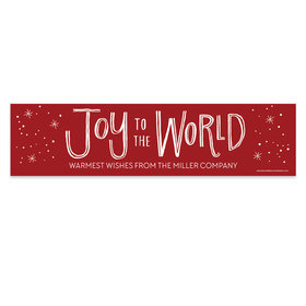 Personalized Bonnie Marcus Christmas Joy to the World 5 Ft. Banner