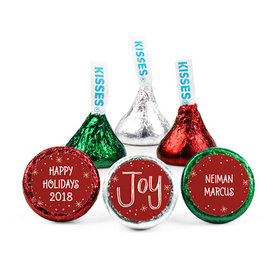 Personalized Bonnie Marcus Christmas Joy to the World Hershey's Kisses (50 pack)