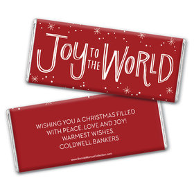 Personalized Bonnie Marcus Chocolate Bar Wrappers - Christmas Joy to the World