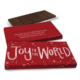 Deluxe Personalized Bonnie Marcus Joy to the World Chocolate Bar in Gift Box (3oz Bar)