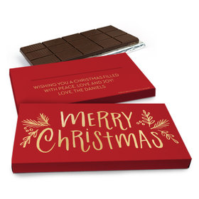 Deluxe Personalized Bonnie Marcus Joyful Gold Chocolate Bar in Gift Box (3oz Bar)