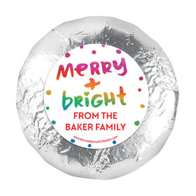 """Personalized Bonnie Marcus Very Merry Christmas 1.25"""" Stickers (48 Stickers)"""