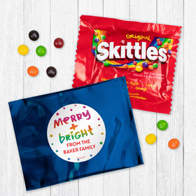 Personalized Christmas Merry and Bright - Skittles