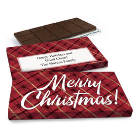 Deluxe Personalized Classical Christmas Chocolate Bar in Gift Box (3oz Bar)