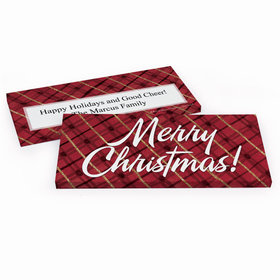 Deluxe Personalized Classical Christmas Chocolate Bar in Gift Box