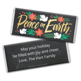 Personalized Bonnie Marcus Chocolate Bar Wrapper Only - Christmas Peace on Earth