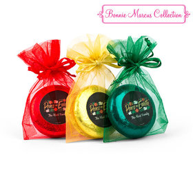 Christmas Peace on Earth Chocolate Covered Oreo Cookies in Organza Bags - Set of 6