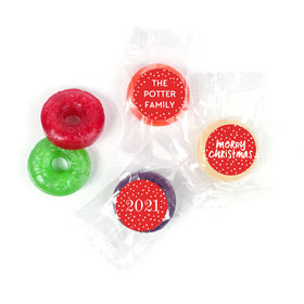 Personalized Bonnie Marcus Christmas Jolly Red LifeSavers 5 Flavor Hard Candy