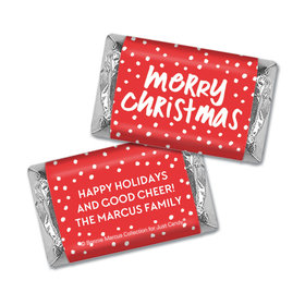 Personalized Bonnie Marcus Jolly Red Christmas Mini Wrappers Only