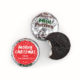Personalized Bonnie Marcus Jolly Red Christmas Pearson's Mint Patties
