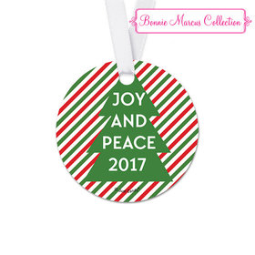 Personalized Christmas Ho Ho Ho's Round Favor Gift Tags (20 Pack)