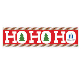 Personalized Ho Ho Ho's Merry Christmas 5 Ft. Banner