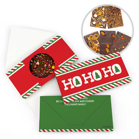 Personalized Ho Ho Ho's Christmas Gourmet Infused Belgian Chocolate Bars (3.5oz)