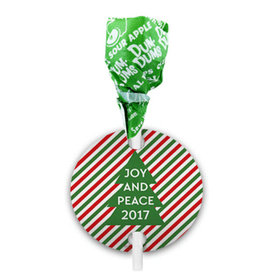 Personalized Ho Ho Ho's Christmas Dum Dums with Gift Tag (75 pops)
