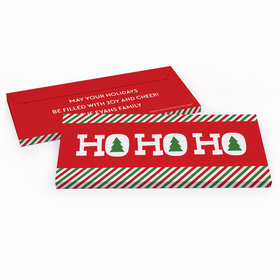 Deluxe Personalized Ho Ho Ho's Christmas Chocolate Bar in Gift Box