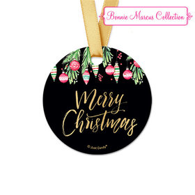 Personalized Christmas Ornate Ornaments Round Favor Gift Tags (20 Pack)