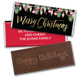 Personalized Bonnie Marcus Embossed Chocolate Bar - Christmas Ornate Ornaments